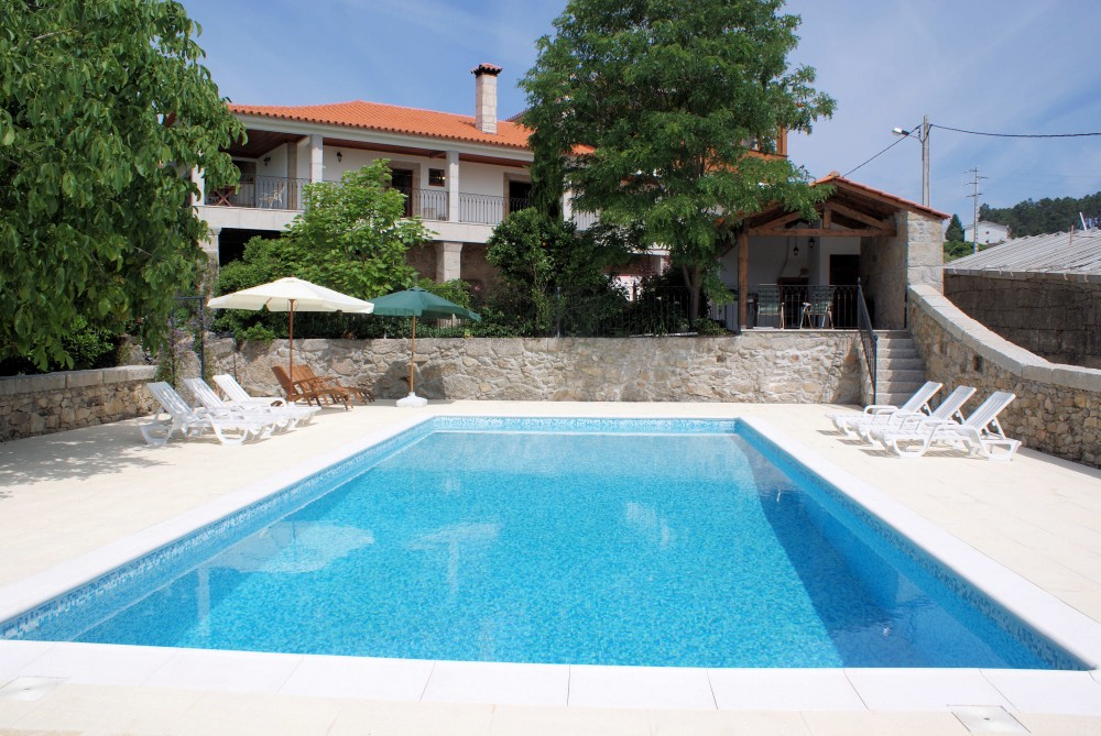 The pool at Quinta Sao Domingos self catering apartments in Portugal