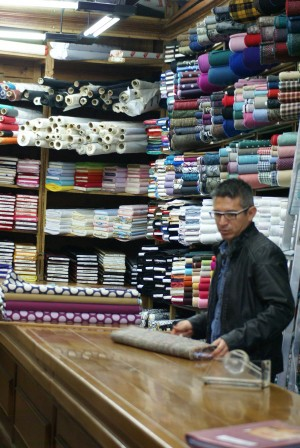 Spanish fabric shop