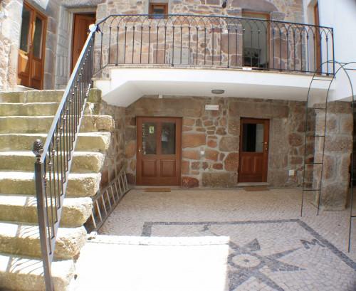 The internal courtyard at Quinta Rustica
